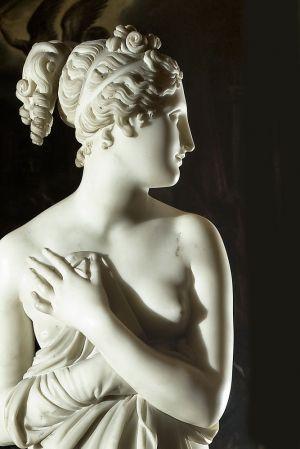 servizio fotografico opera d'arte  scultura Antonio Canova-venere italica -